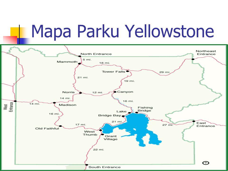 Mapa Parku Yellowstone