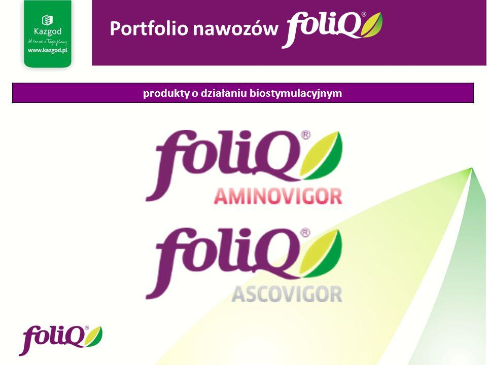 produkty o działaniu biostymulacyjnym Portfolio nawozów
