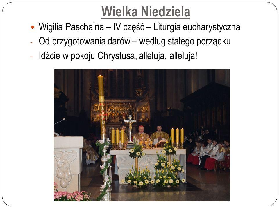 Wielka Niedziela Wigilia Paschalna – IV część – Liturgia eucharystyczna - Od przygotowania darów – według stałego porządku - Idźcie w pokoju Chrystusa, alleluja, alleluja!