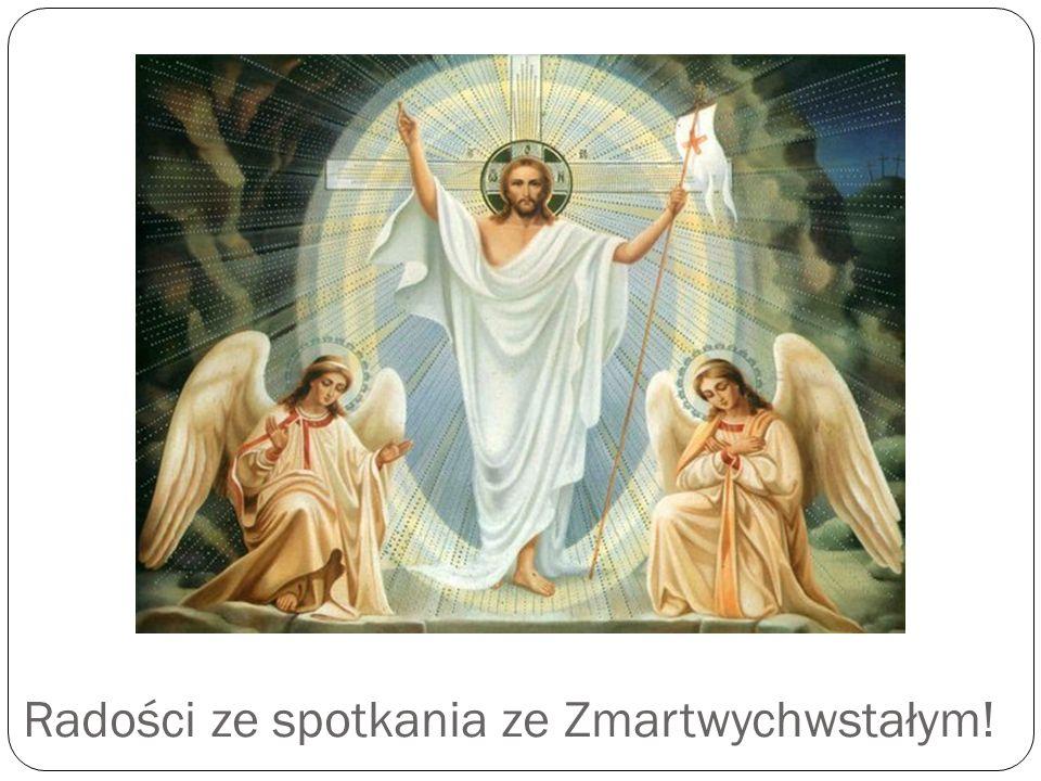 Radości ze spotkania ze Zmartwychwstałym!