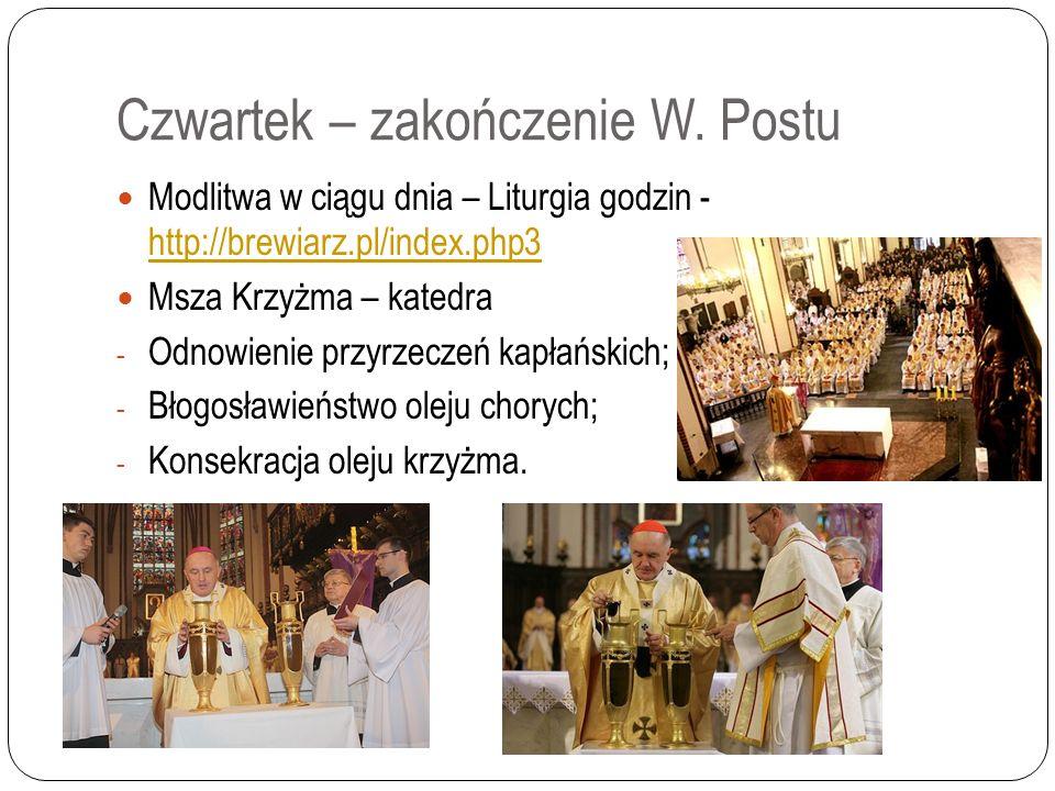 Wielki Czwartek – początek Triduum Pieśń na wejście – o Krzyżu.