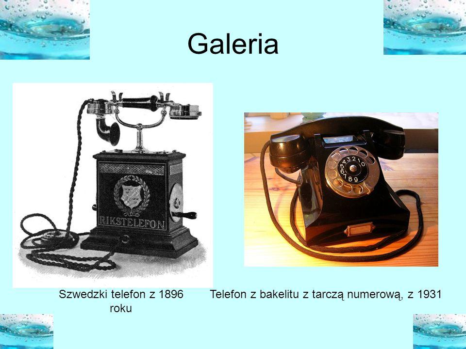 Galeria Szwedzki telefon z 1896 roku Telefon z bakelitu z tarczą numerową, z 1931