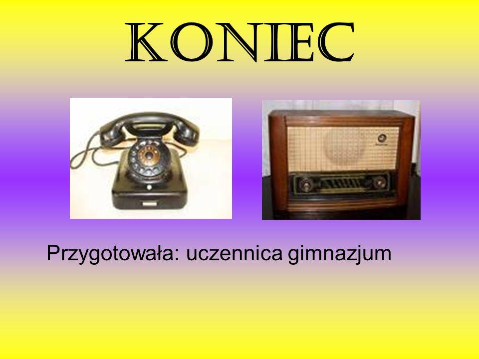 KONIEC Przygotowała: uczennica gimnazjum