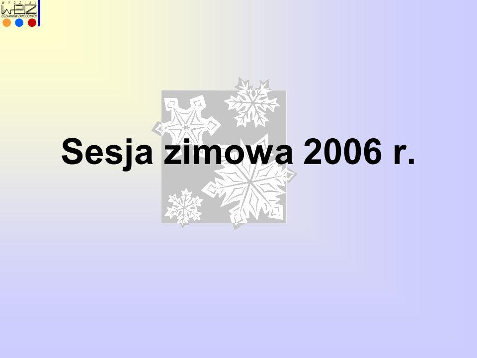 Sesja zimowa 2006 r.