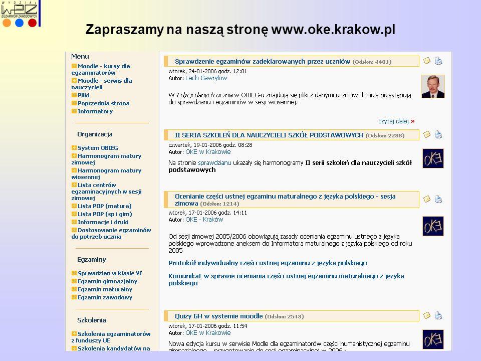 Zapraszamy na naszą stronę www.oke.krakow.pl