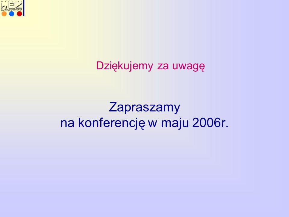 Dziękujemy za uwagę Zapraszamy na konferencję w maju 2006r.