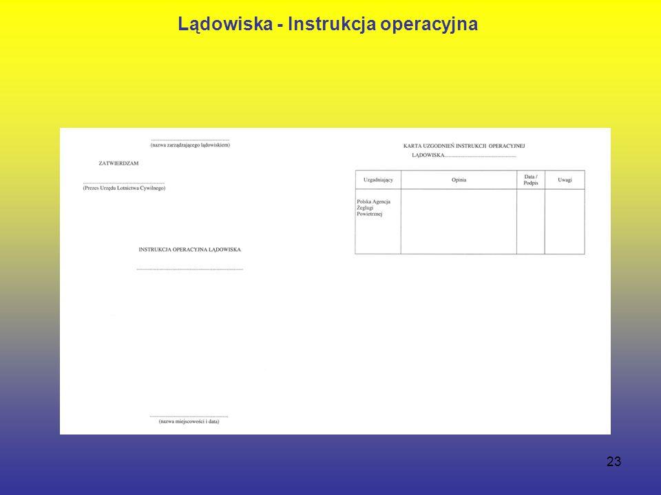 23 Lądowiska - Instrukcja operacyjna