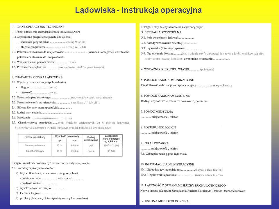 24 Lądowiska - Instrukcja operacyjna
