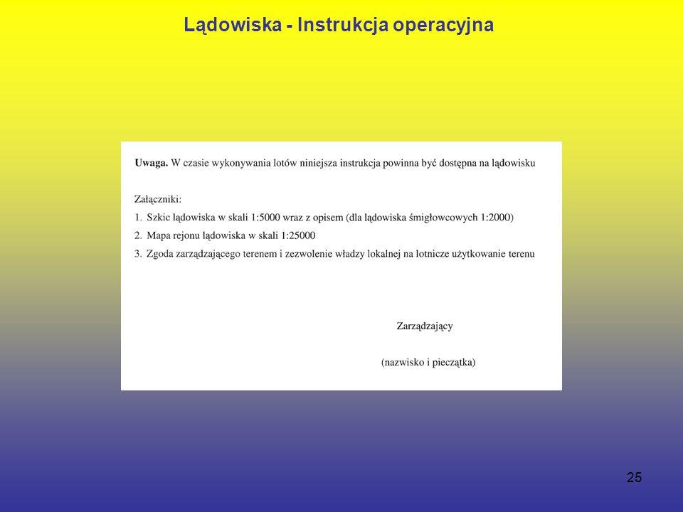 25 Lądowiska - Instrukcja operacyjna