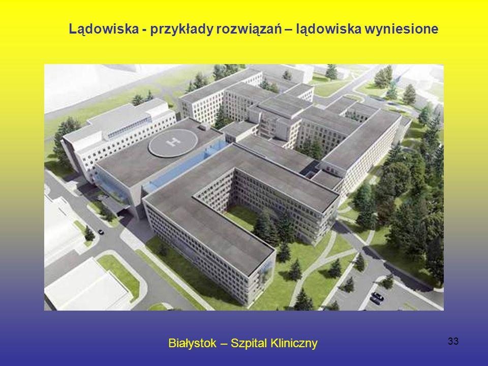 33 Białystok – Szpital Kliniczny Lądowiska - przykłady rozwiązań – lądowiska wyniesione
