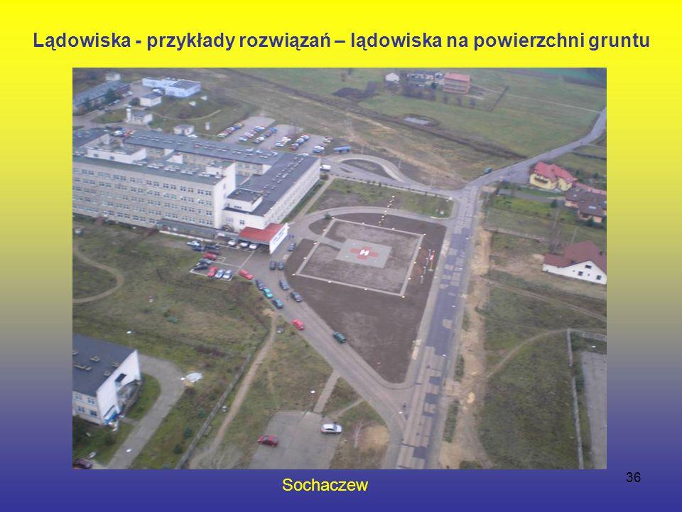36 Sochaczew Lądowiska - przykłady rozwiązań – lądowiska na powierzchni gruntu