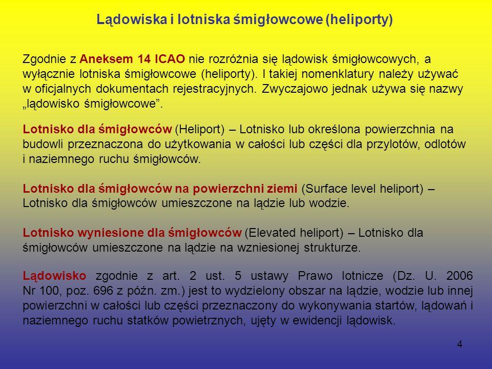 4 Lądowisko zgodnie z art. 2 ust. 5 ustawy Prawo lotnicze (Dz.