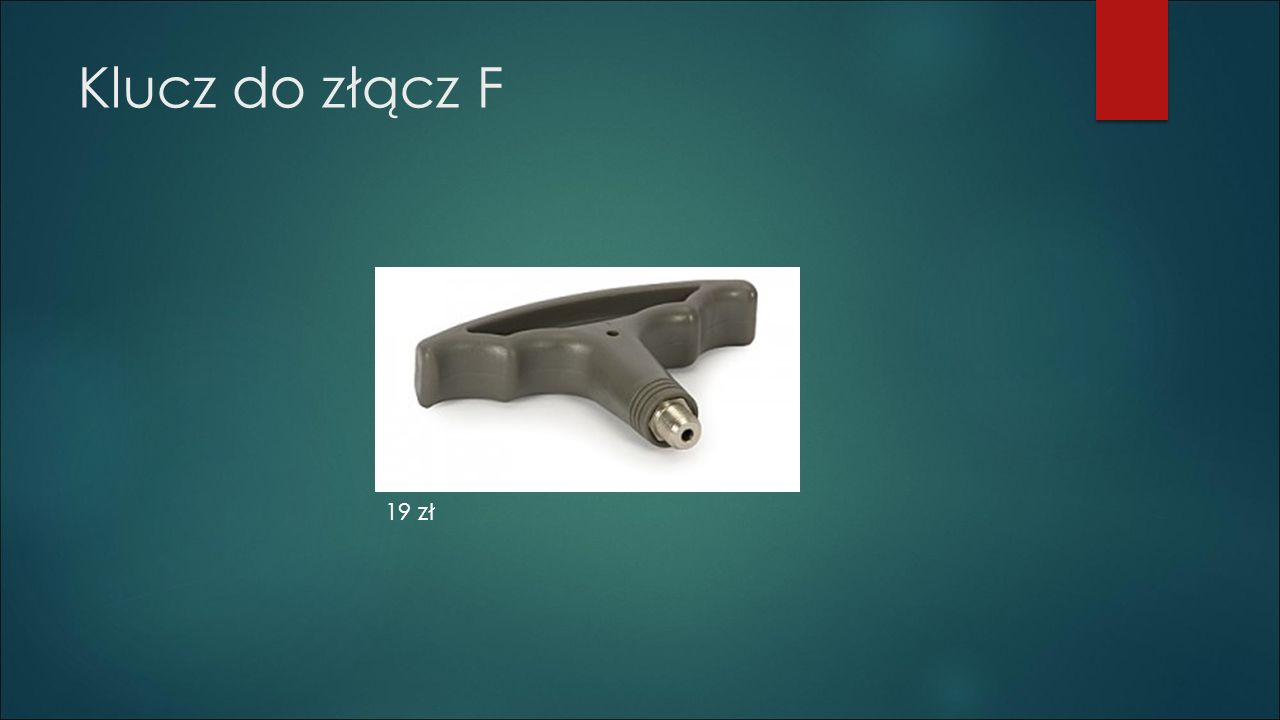 Klucz do złącz F 19 zł