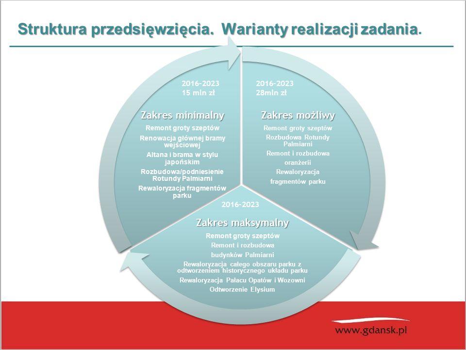 Struktura przedsięwzięcia. Warianty realizacji zadania Struktura przedsięwzięcia.