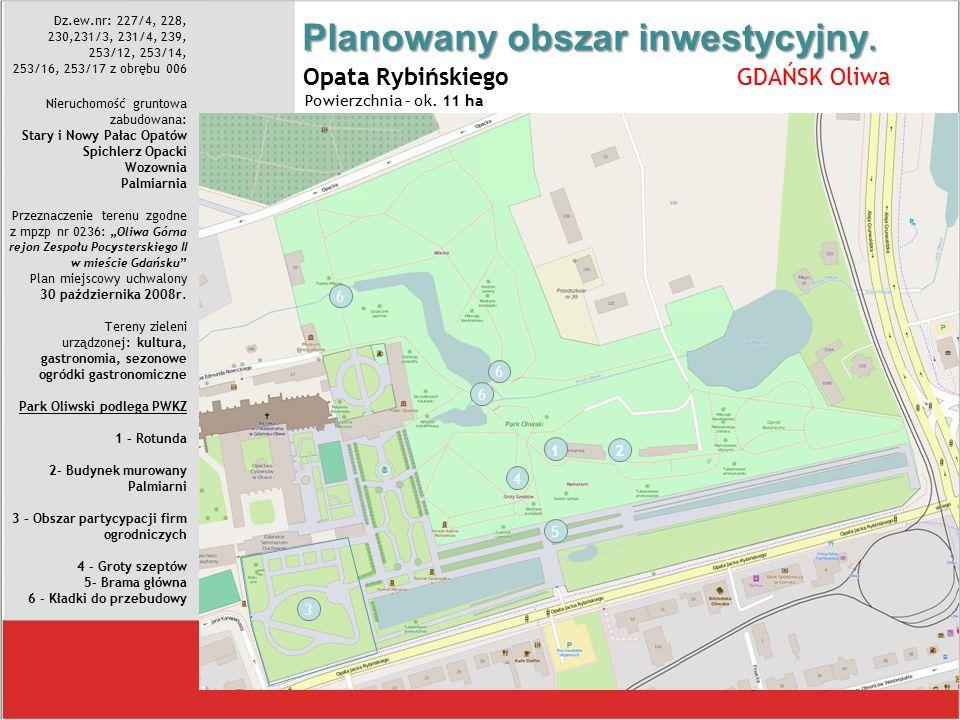 Planowany obszar inwestycyjny.