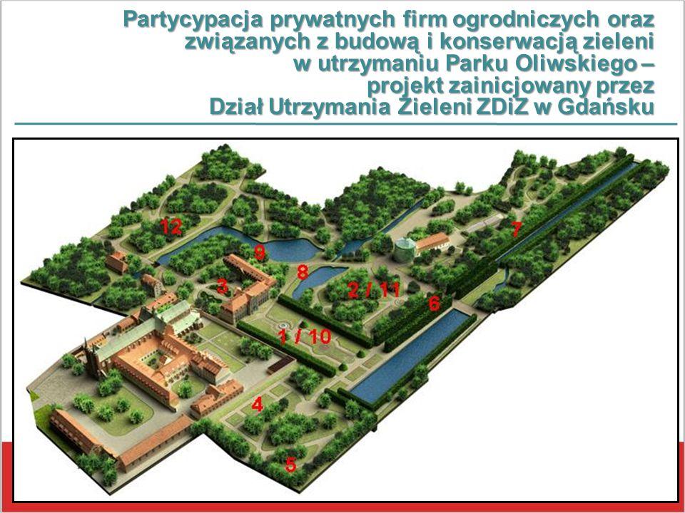 Partycypacja prywatnych firm ogrodniczych oraz związanych z budową i konserwacją zieleni w utrzymaniu Parku Oliwskiego – projekt zainicjowany przez Dz