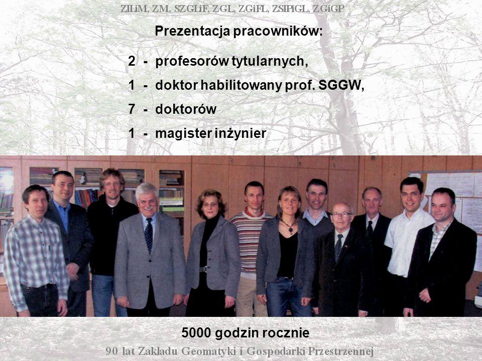 Prezentacja pracowników: 2 - profesorów tytularnych, 1 - doktor habilitowany prof.