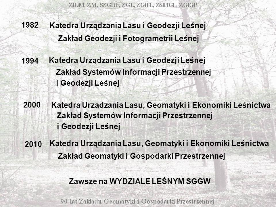 Grażyna Kamińska – Rastrowy model danych w badaniach struktury przestrzennej kompleksów leśnych (promotor prof.