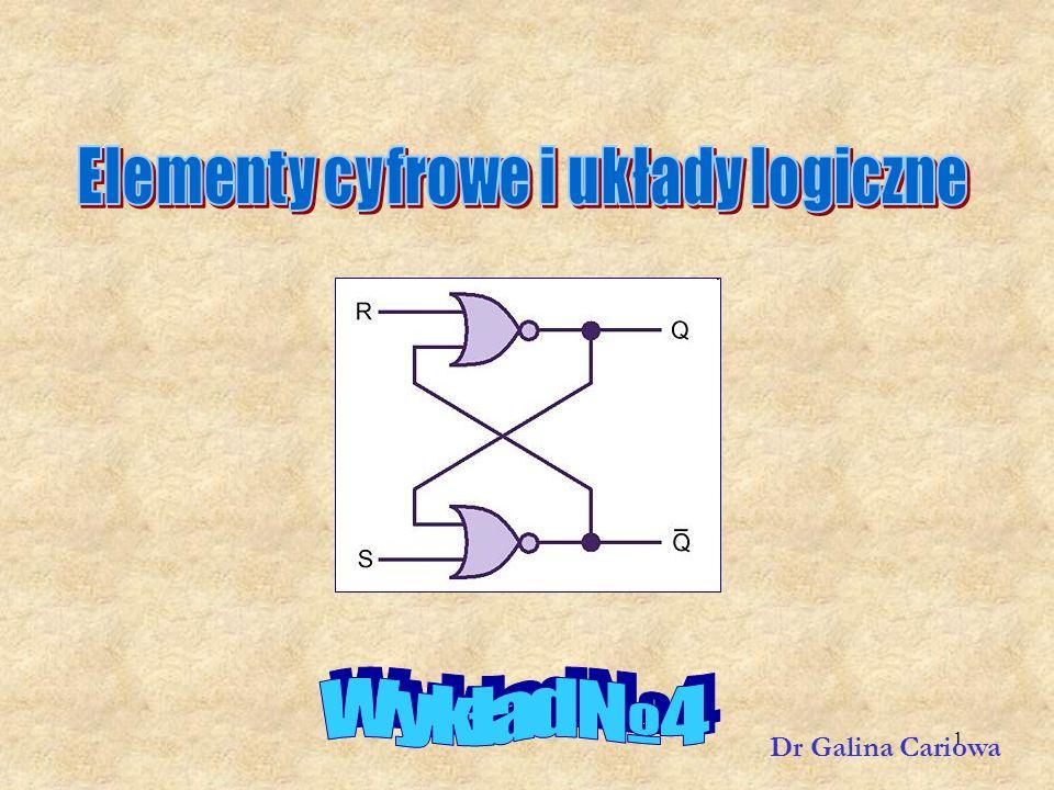32 Obciążalność wyjściowa Obciążalności wyjściowej bramki nie należy przekraczać, gdyż może to spowodować niestabilność sieci logicznej, a nawet spalenie niektórych jej elementów.