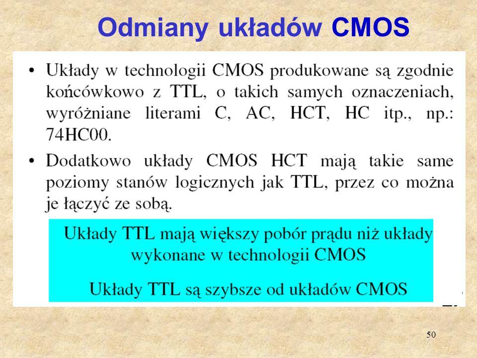 50 Odmiany układów CMOS