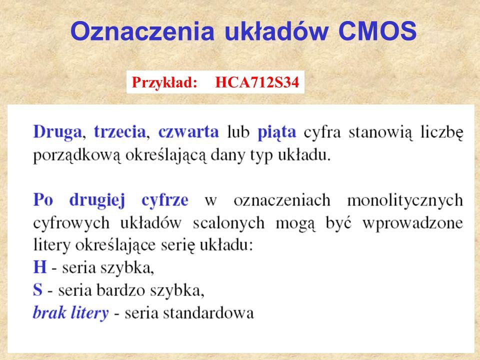 54 Oznaczenia układów CMOS Przykład: HCA712S34