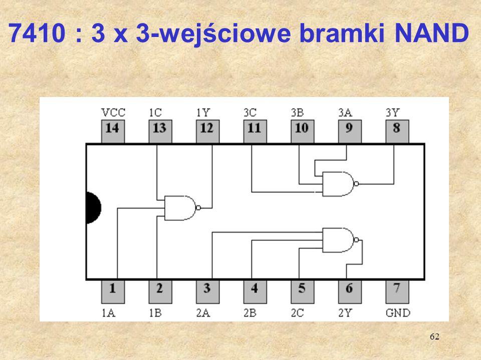 62 7410 : 3 x 3-wejściowe bramki NAND