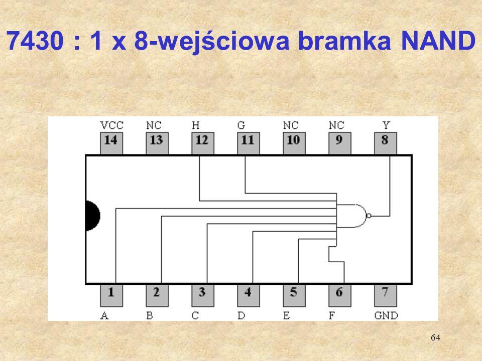 64 7430 : 1 x 8-wejściowa bramka NAND