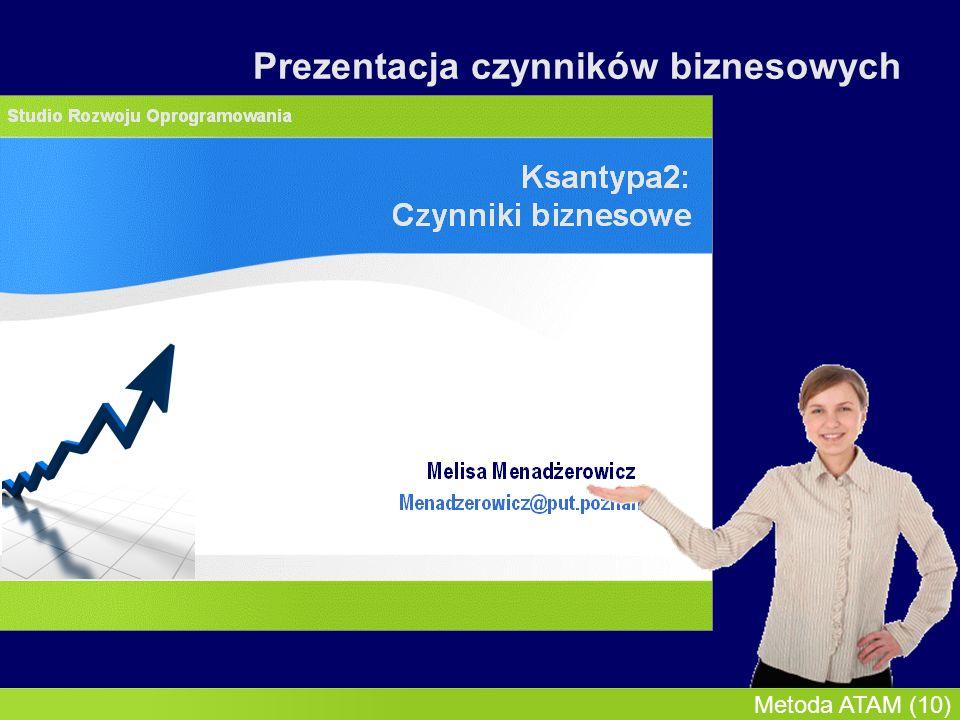 InMoST, 2007-03-09 Metoda ATAM (11) Prezentacja czynników biznesowych
