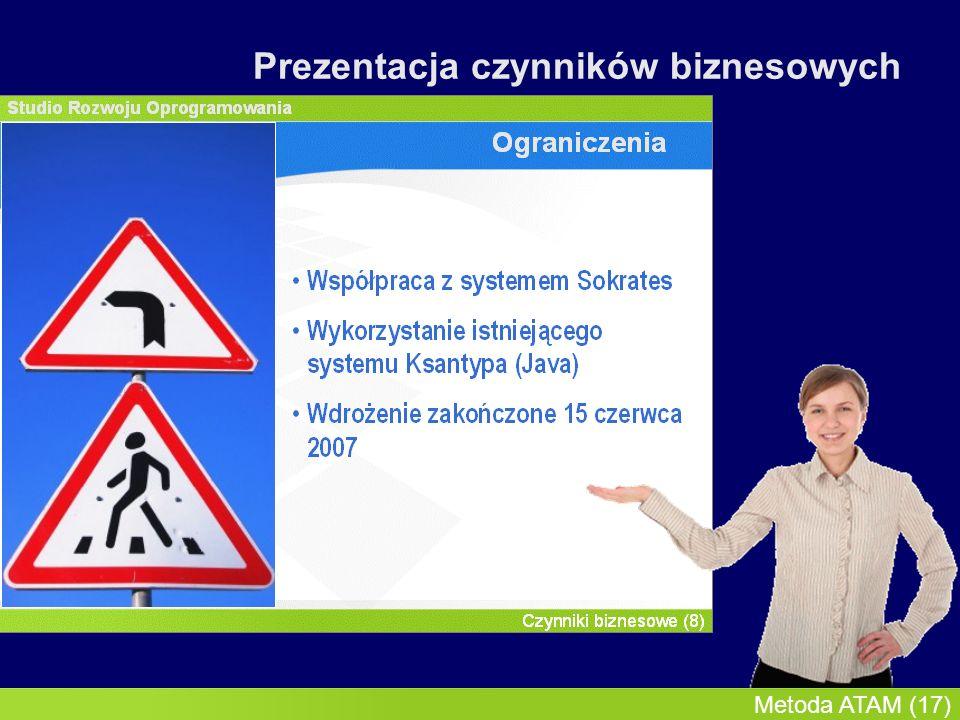 InMoST, 2007-03-09 Metoda ATAM (18) Prezentacja czynników biznesowych
