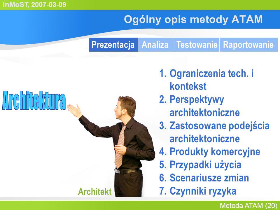 InMoST, 2007-03-09 Metoda ATAM (21) Prezentacja architektury