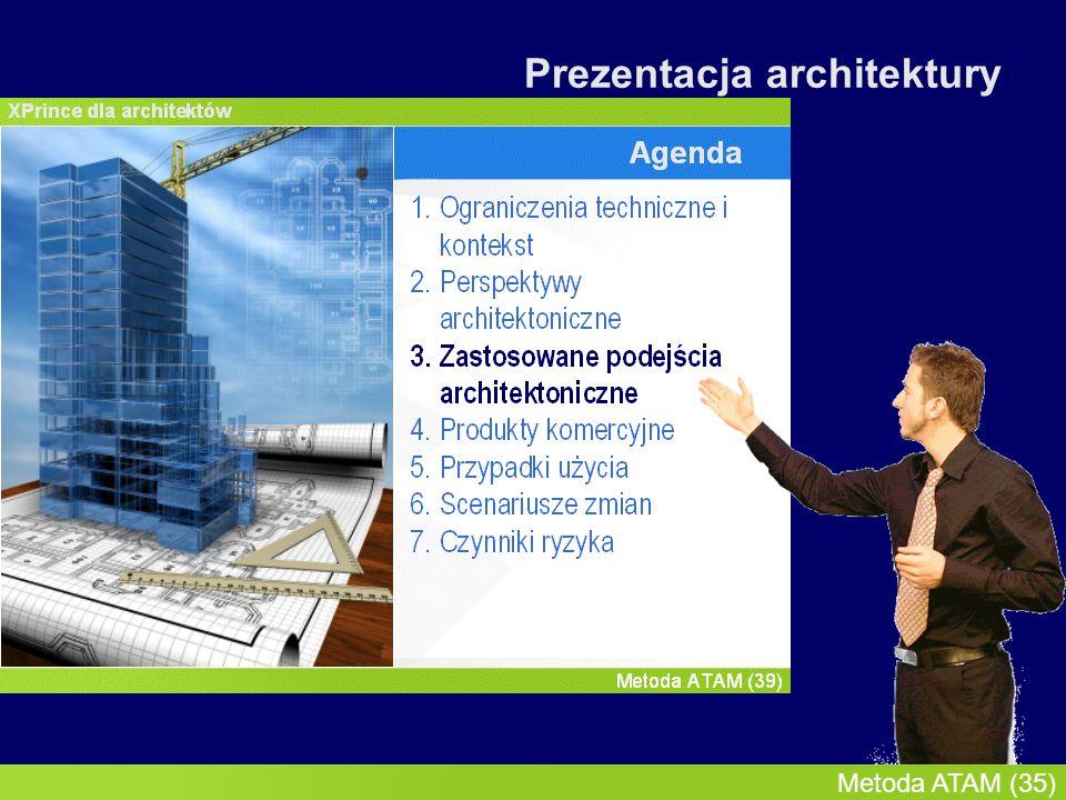 InMoST, 2007-03-09 Metoda ATAM (36) Zastosowane podejścia architektoniczne P1P2P3P4 Styl współbieżnych potoków Zaleta: Zwiększa modyfikowalność