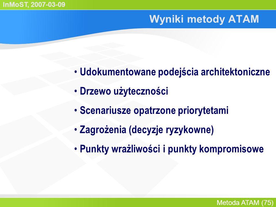 InMoST, 2007-03-09 Metoda ATAM (76) Agenda Podsumowanie