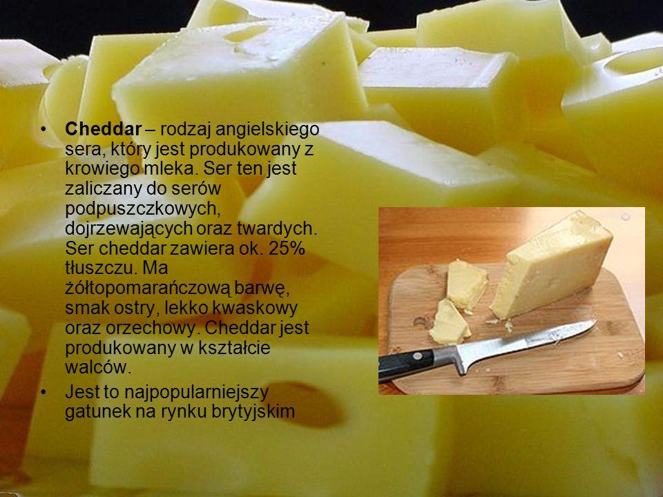 Mozzarella – ser pochodzący z południowych Włoch, z regionu Kampania (miasto Aversa).