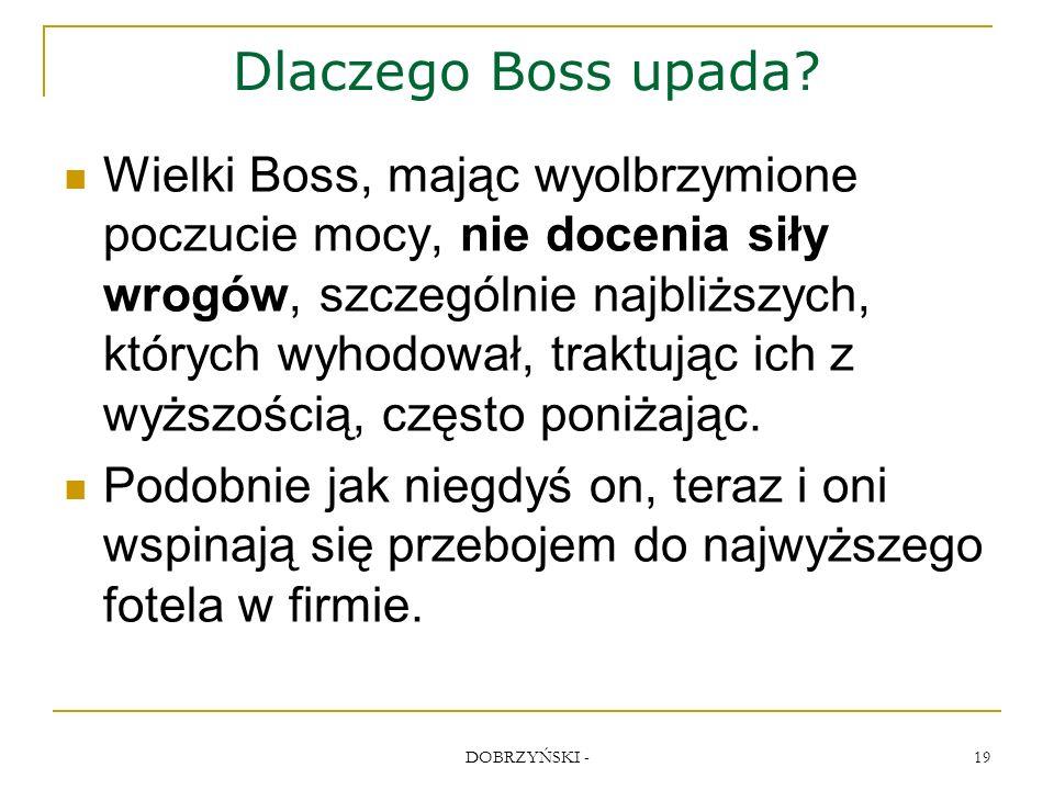 DOBRZYŃSKI - 19 Dlaczego Boss upada.