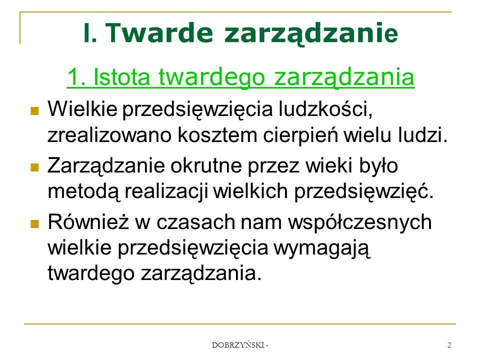 DOBRZYŃSKI - 23 Zachowania prezesów prowadzące do klęski 2.