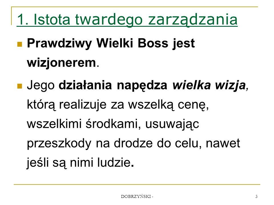 DOBRZYŃSKI - 24 Zachowania prezesów prowadzące do klęski 3.