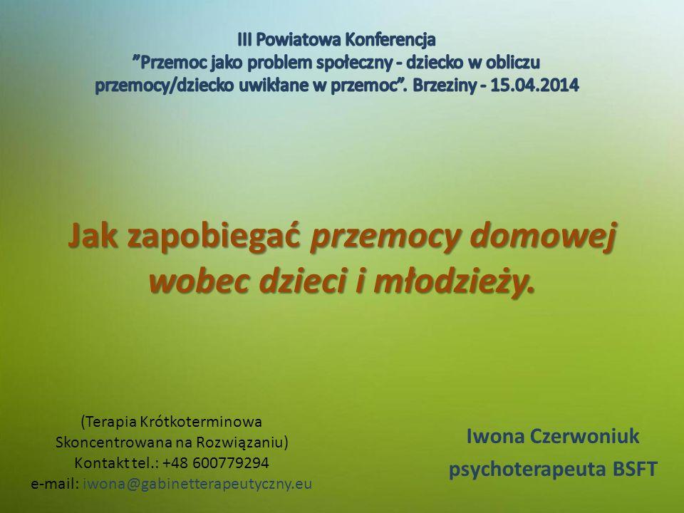 Jak zapobiegać przemocy domowej wobec dzieci i młodzieży.