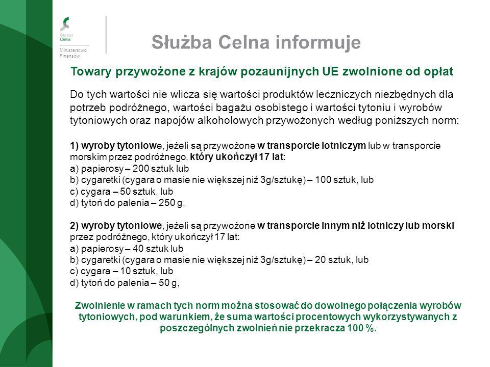 Ministerstwo Finansów Izba Celna we Wrocławiu Dziękujemy za uwagę!