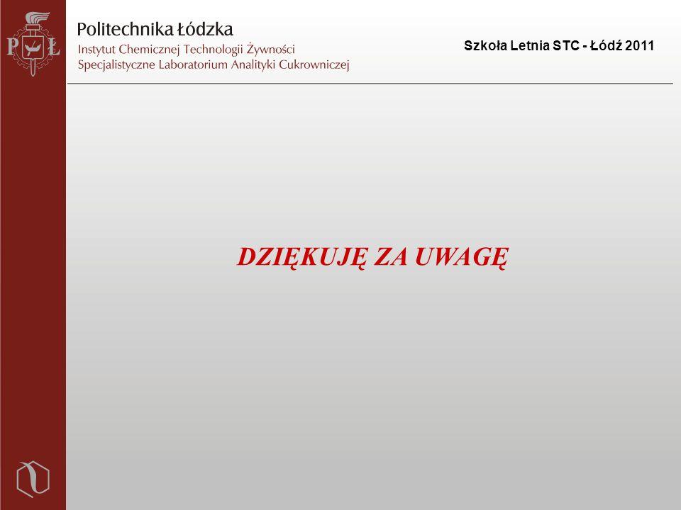 Szkoła Letnia STC - Łódź 2011 DZIĘKUJĘ ZA UWAGĘ
