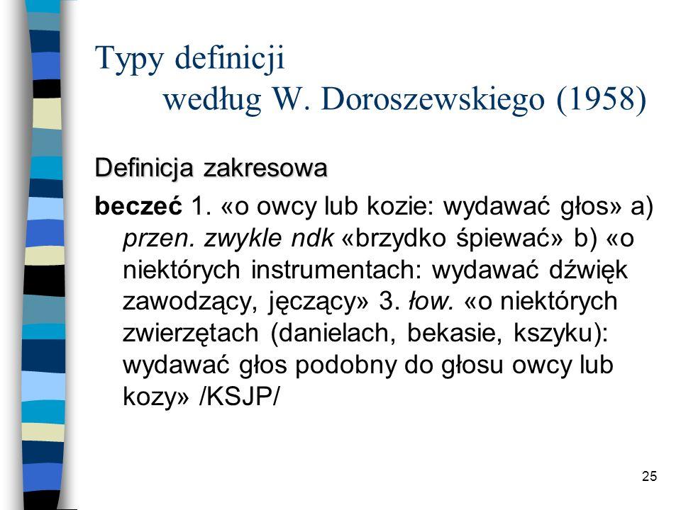 24 Typy definicji według W.
