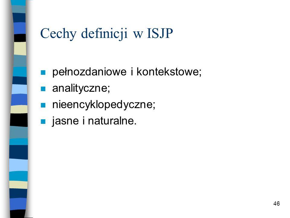 45 Błędy w definicjach słownikowych (na podst.: P.