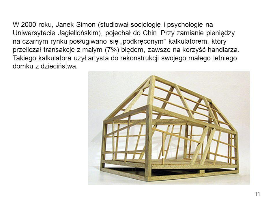 11 W 2000 roku, Janek Simon (studiował socjologię i psychologię na Uniwersytecie Jagiellońskim), pojechał do Chin. Przy zamianie pieniędzy na czarnym
