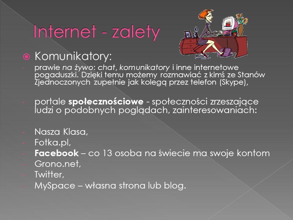  Komunikatory: - prawie na żywo: chat, komunikatory i inne internetowe pogaduszki.