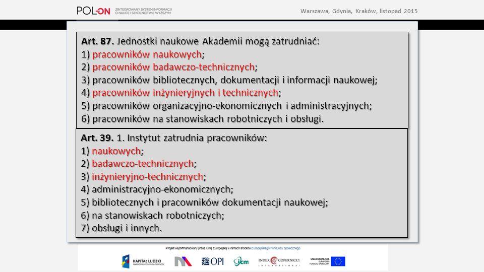 2)w przypadku jednostek naukowych Polskiej Akademii Nauk – będących pracownikami, o których mowa w art.