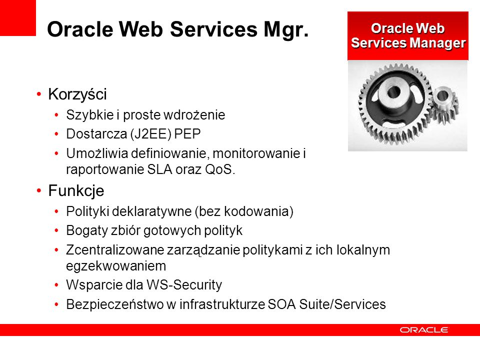 Oracle Web Services Mgr.