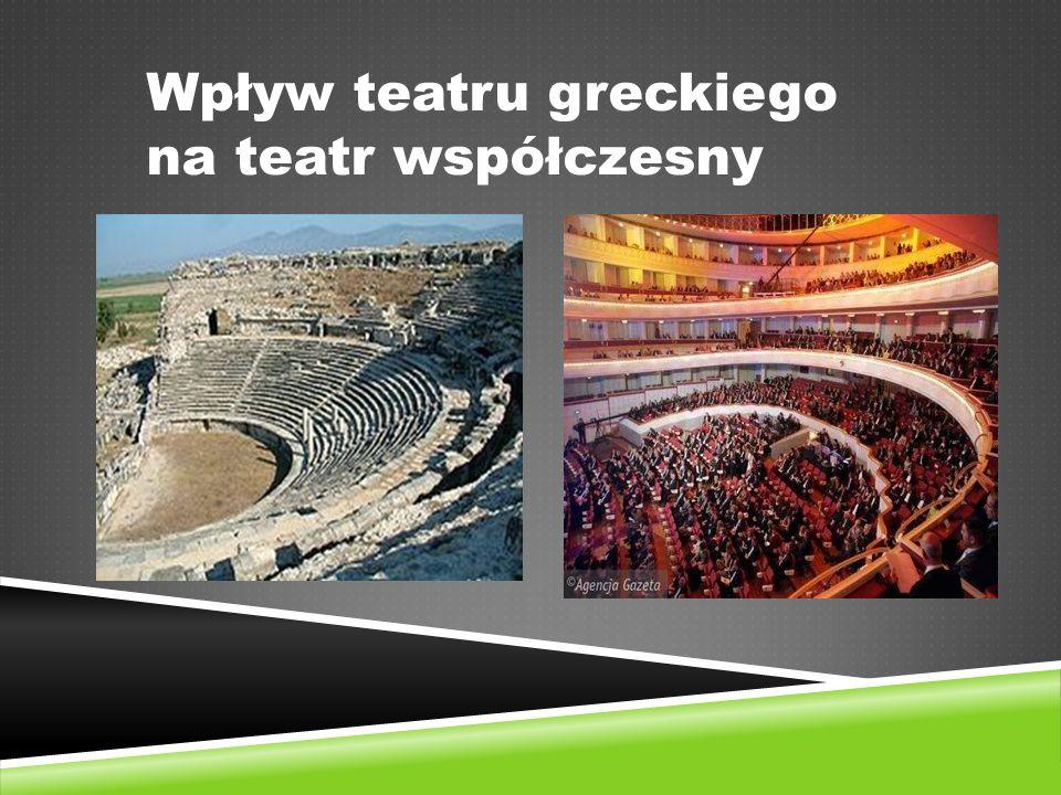 Wpływ teatru greckiego na teatr współczesny