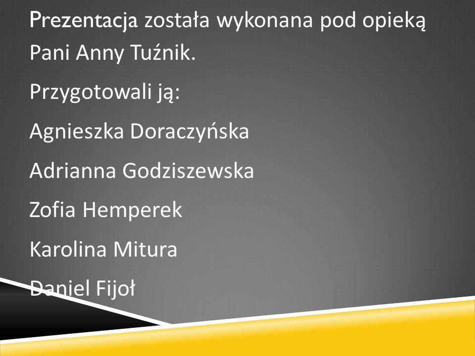 Prezentacja została wykonana pod opieką Pani Anny Tuźnik.