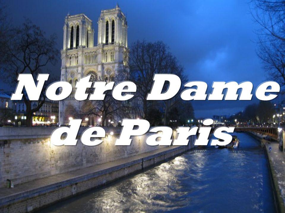 """Notre Dame de Paris- """"Nasza Pani .Katedra została wzniesiona na śladach po dwóch kościołach z IXw."""