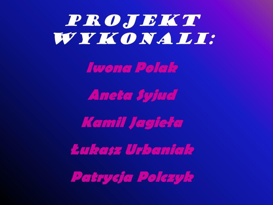 Projekt wykonali: Iwona Polak Aneta Syjud Kamil Jagieła Łukasz Urbaniak Patrycja Polczyk
