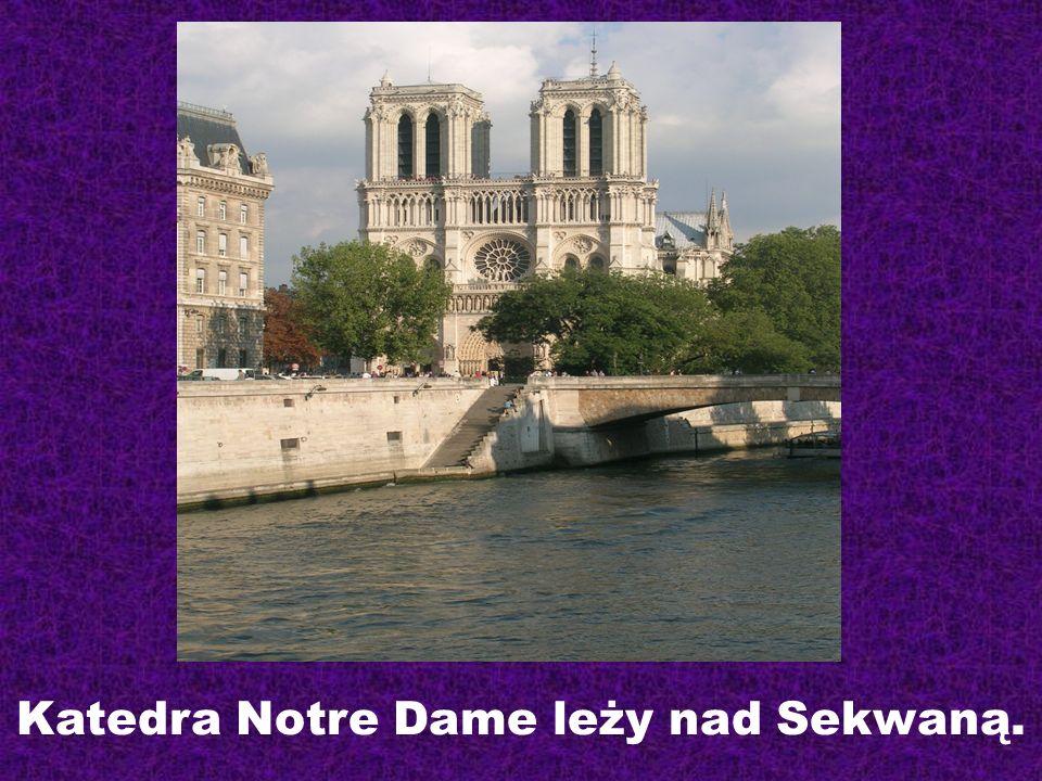 Katedra Notre Dame leży nad Sekwaną.